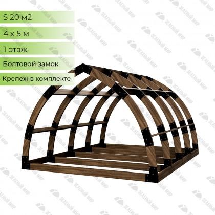 Арочный каркас дома правильной формы S-4 из LVL-бруса