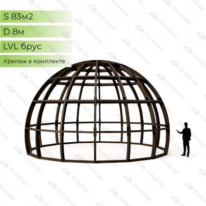 Каркас круглого дома S8 - LVL