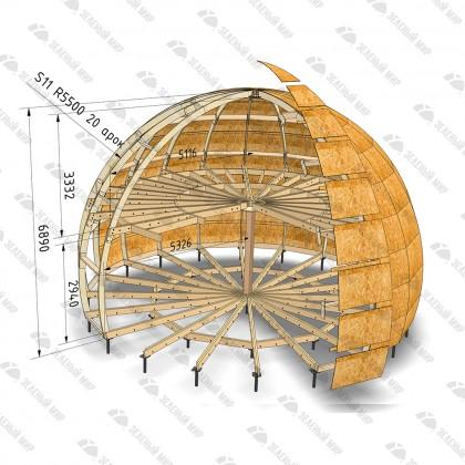 Каркас круглого дома S11 - LVL