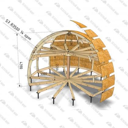 Каркас круглого дома S7 - LVL