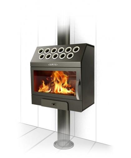 Воздухогрейная печь модификация Гармошка Inox