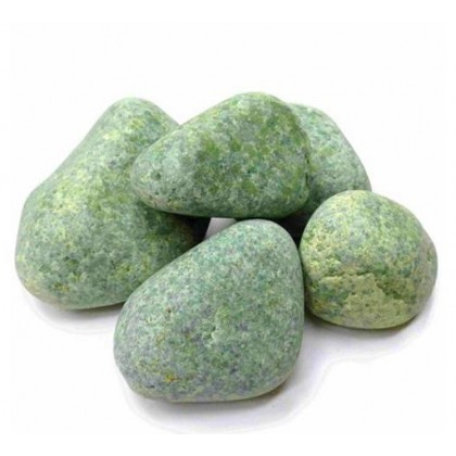 Камень для бани Жадеит шлифованный средний 10 кг