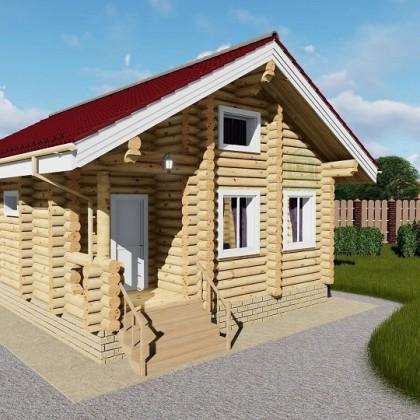 """Деревянный дом """"Компактный"""" на 62 кв.м"""