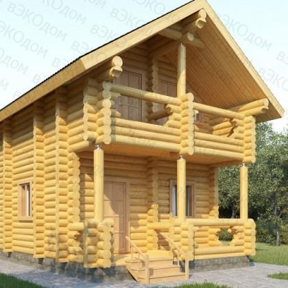 Двухэтажный деревянный дом №1-5 на 84 кв.м