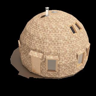 Купольный дом под черновую отделку