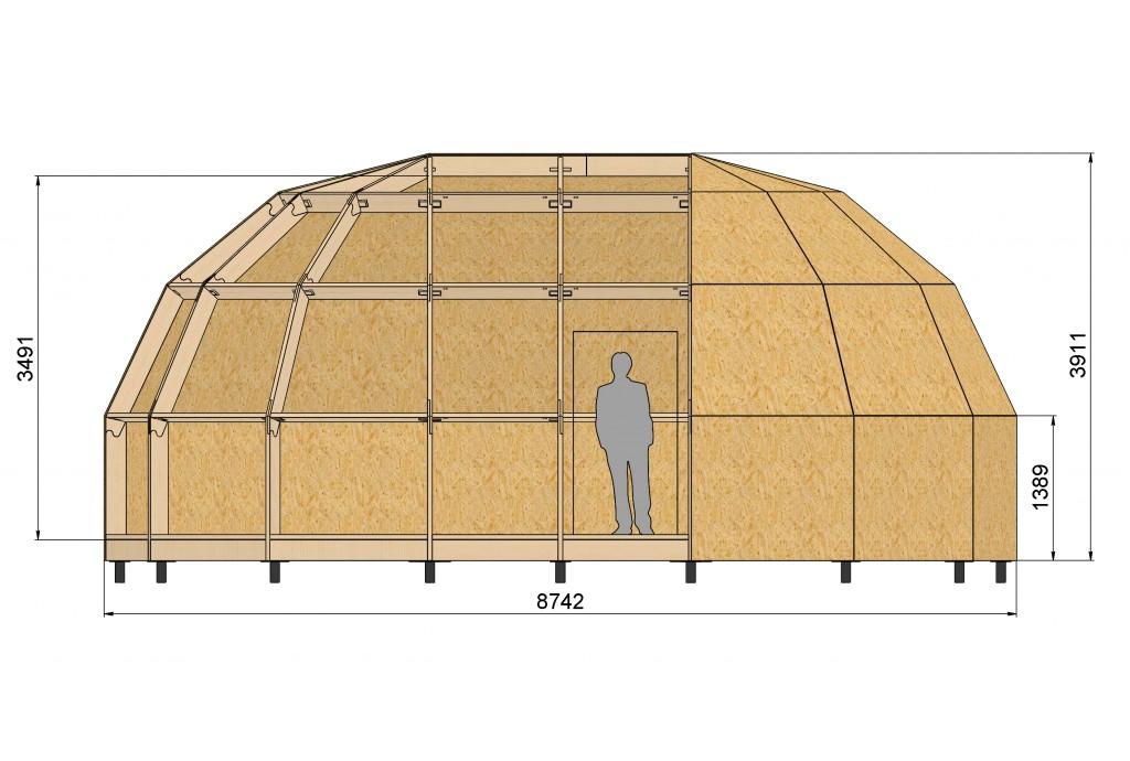 Новая модель купольного каркаса Z6L