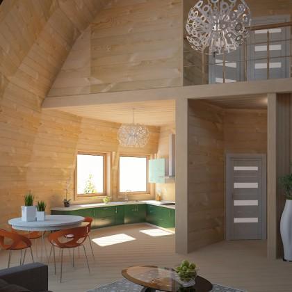Купольный дом - 280 м² - Z14 под черновую отделку