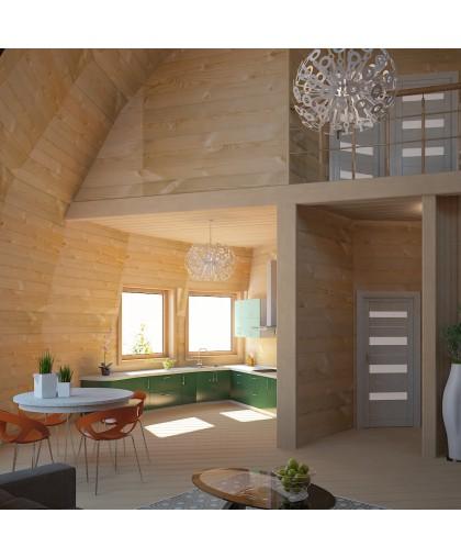 Купольный каркас - 280 м² - Z14