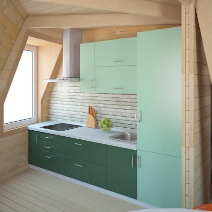 Купольный дом - 28 м² - Z6 под черновую отделку