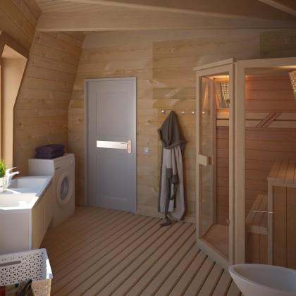 Купольный дом - 70 м² - Z8 под черновую отделку