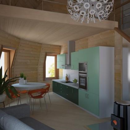 Купольный дом - 134,5 м² - Z10H под черновую отделку