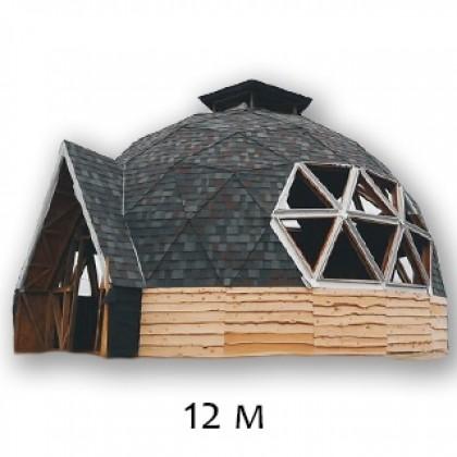 """Купольный дом, стадия работ """"Под отделку"""" - 12М по технологии """"GoodKarma"""""""
