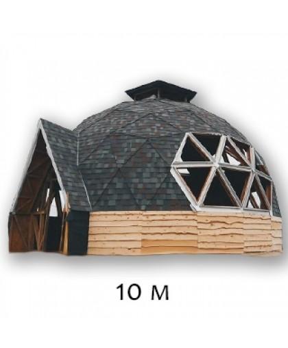 """Купольный дом, стадия работ """"Под отделку"""" - 10М по технологии """"GoodKarma"""""""