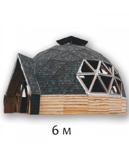 """Купольный дом, стадия работ """"Под отделку"""" - 6М по технологии """"GoodKarma"""""""