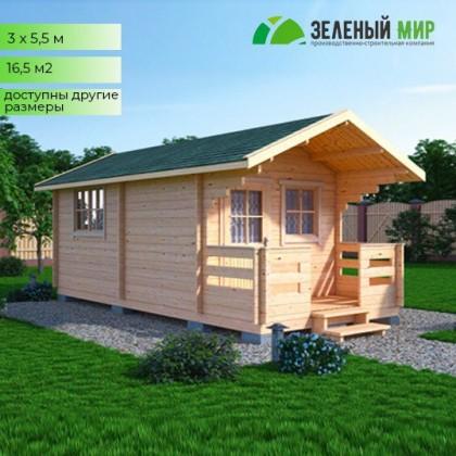 Дачный дом с крыльцом для самостоятельной сборки