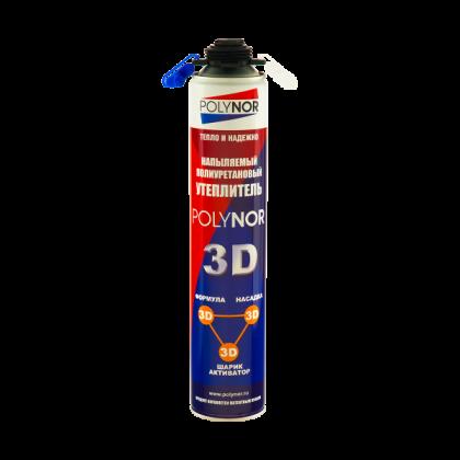 Напыляемый полиуретановый утеплитель (НПУ)  POLYNOR 3D - 890 мл