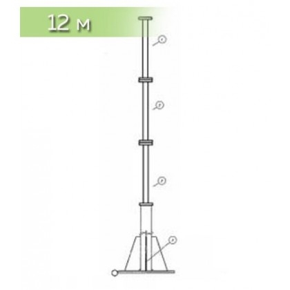 Мачта 12 метров (для ветряков до 5 кВт включит.)