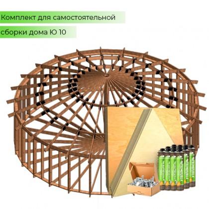 Домокомплект дома юрты - QU-10 - 79 кв.м.
