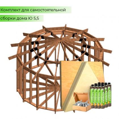 Домокомплект дома юрты - QU-5,5 - 24 кв.м.