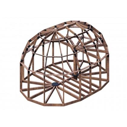 Удлиненный купольный каркас - 76 кв.м. - D6HL (ВЫСОКИЙ)