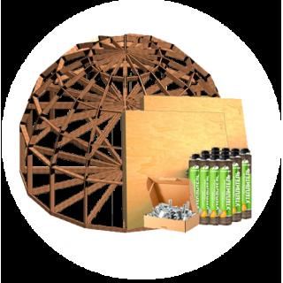 Купольные домокомплекты с болтовыми замками
