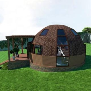 Стратодезический купольный дом Добросфера