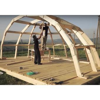 Наше производство: каркасы купольных домов