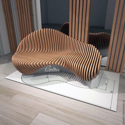 Скамья в параметрическом дизайне