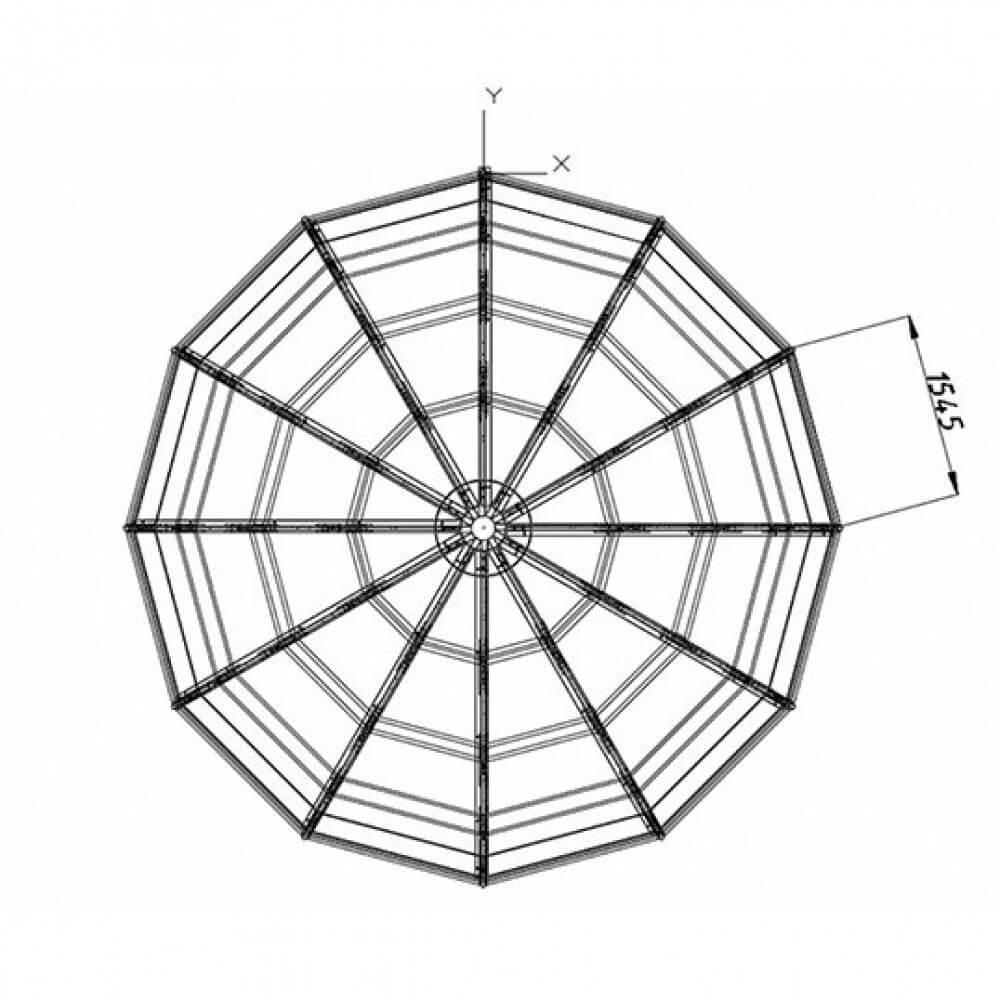 Размеры каркаса правильной круглой формы в Краснодаре