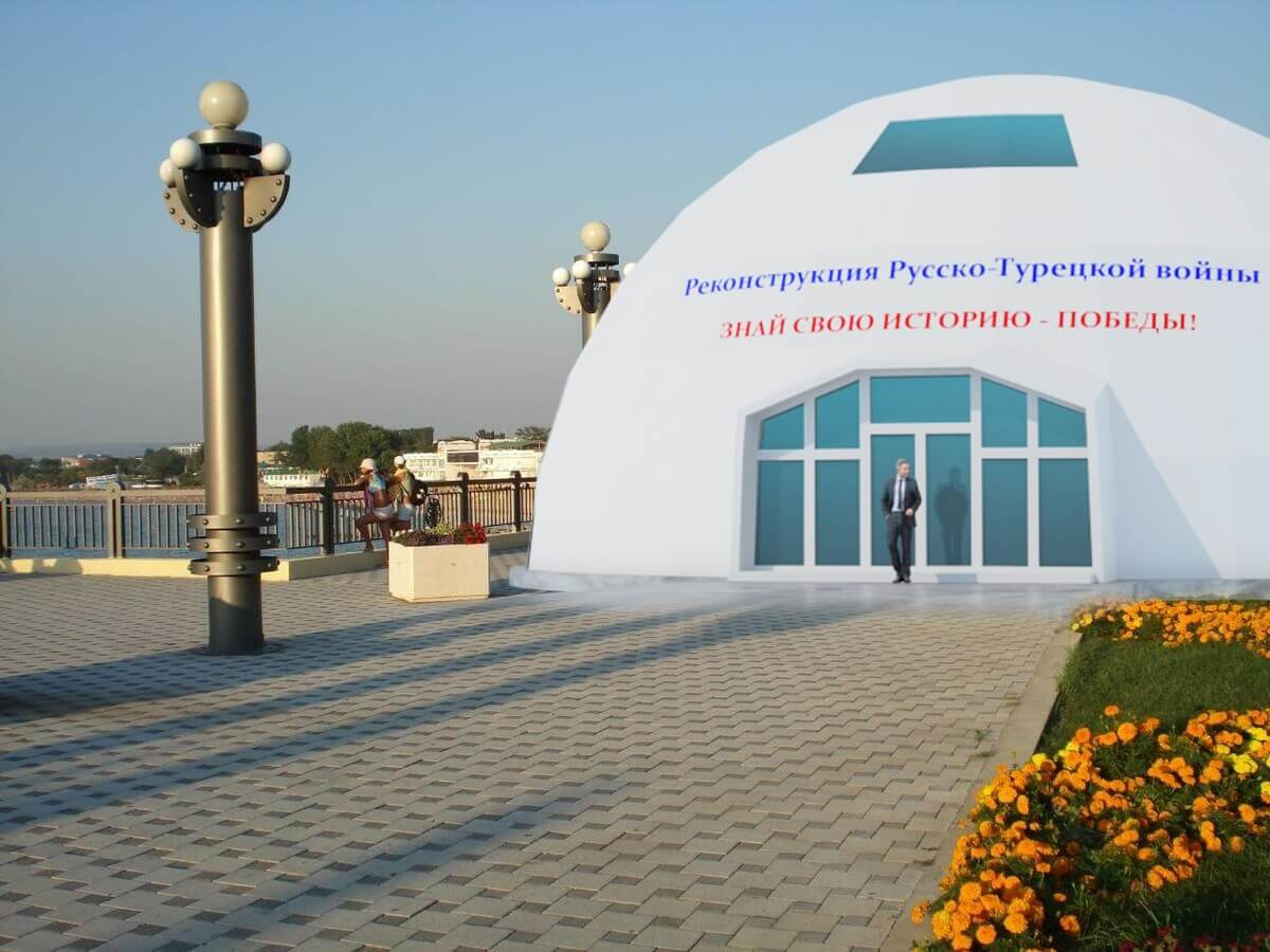 Каркас 20 метров для реконструкции Русско-Турецкой войны