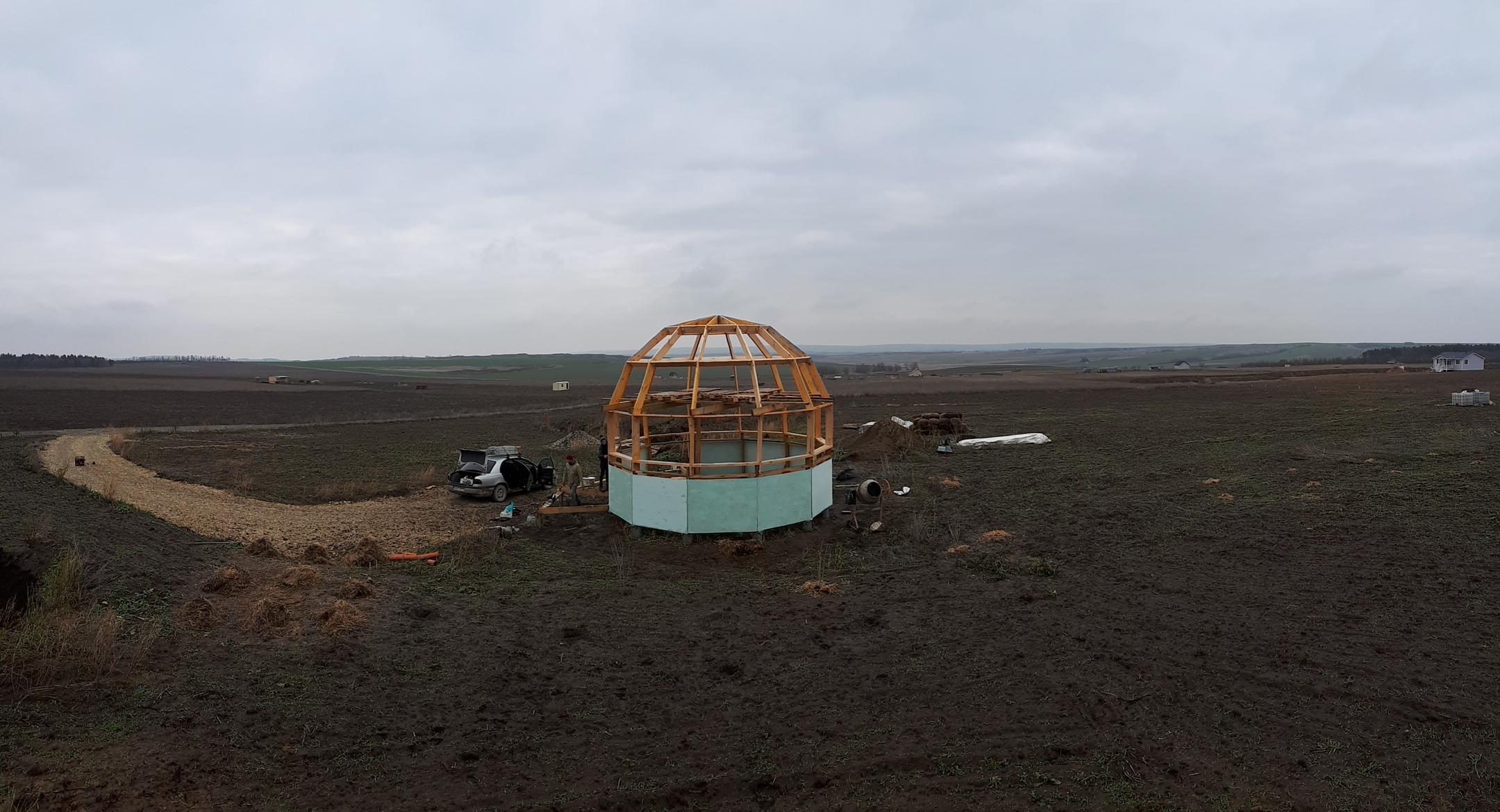 Каркас купольного дома - станица Варениковская