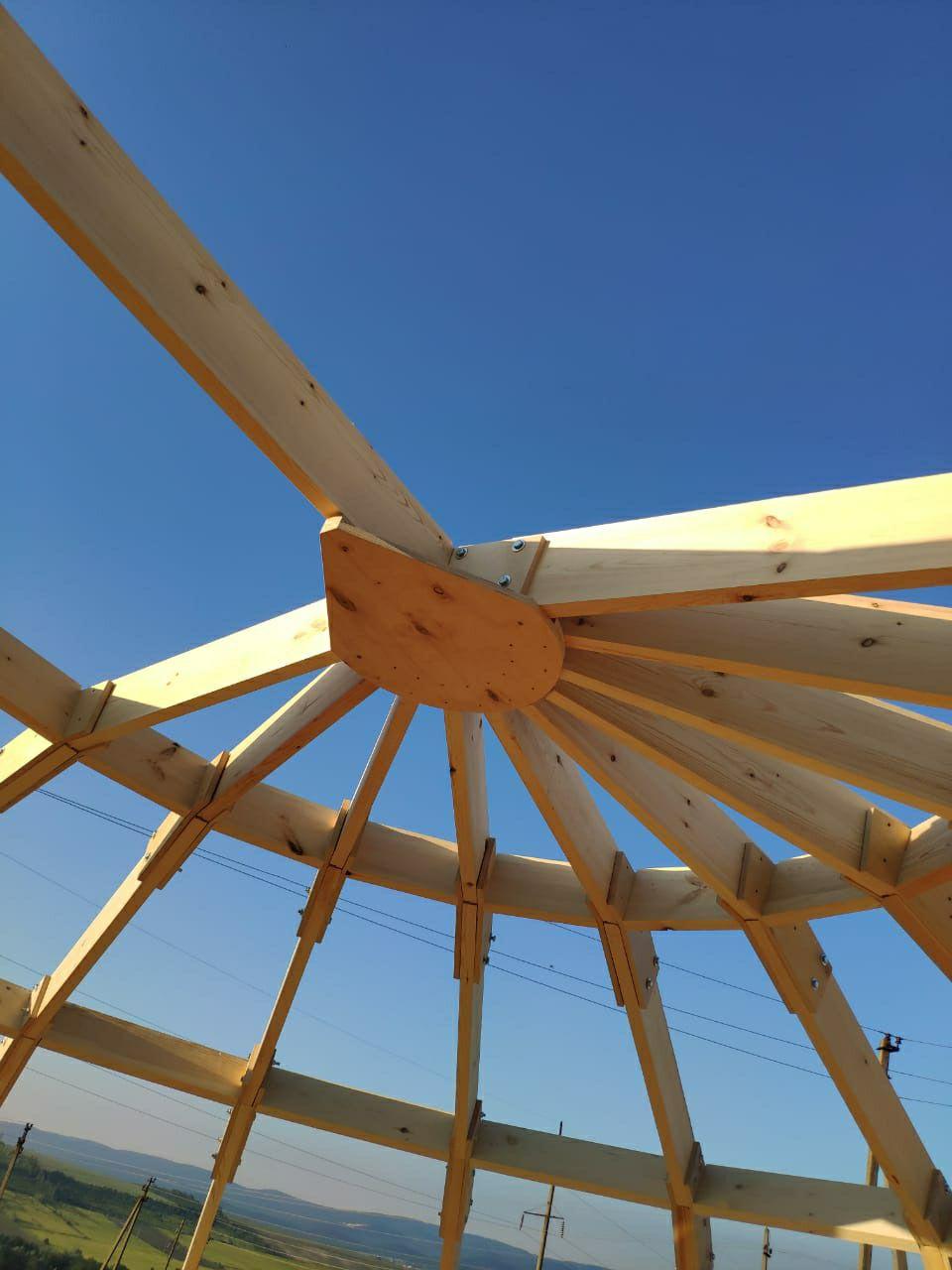 Индивидуальный купольный арочный каркас для оранжереи Тюмени